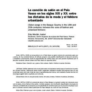 Díaz Morlán - 2007 - La canción de salón en el País Vasco en los siglos.pdf