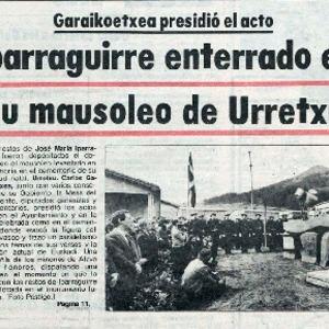 Urcelay - 1981 - Iparraguirre enterrado en su mausoleo de Urretxu.pdf