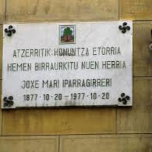 Placa en calle Independencia [Vitoria]