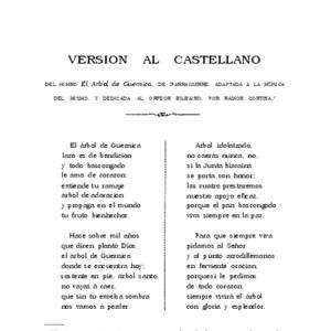Iparragirre Balerdi - 1889 - Versión al castellano. Del himno El árbol de Guer.pdf