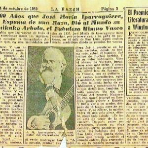 La Razón - 1953 - Hace 100 años que José María Iparraguirre, Flor y .pdf
