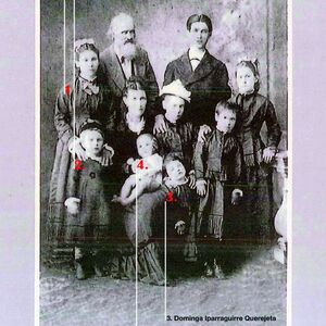 Familia Iparraguirre Querejeta. Mercedes 1877