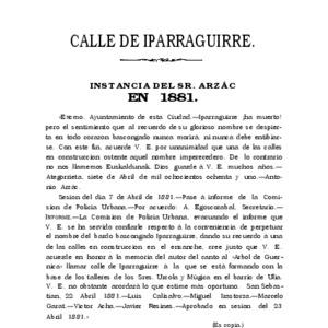 Arzac Alberdi - 1890 - Calle de Iparraguirre  en 1881  instancia del Sr.pdf