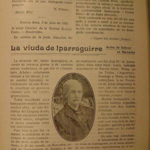 Parrabére - 1920 - La viuda de Iparraguirre. Acaba de fallecer en Mer.pdf