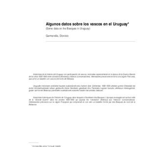 Garmendia - 2004 - Algunos datos sobre los vascos en el Uruguay (Som.pdf