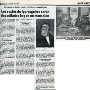 Urcelay - 1981 - Los restos de Iparraguirre serán depositados hoy e.pdf